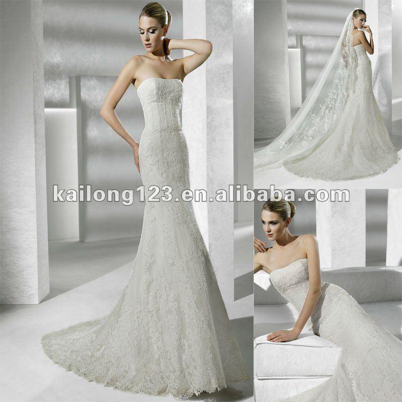 Tight fitting mermaid wedding dresses for Tight fitting wedding dress