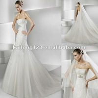 Свадебное платье Classic Halter V-neckline Sash Beaded A-line Bridal Dress