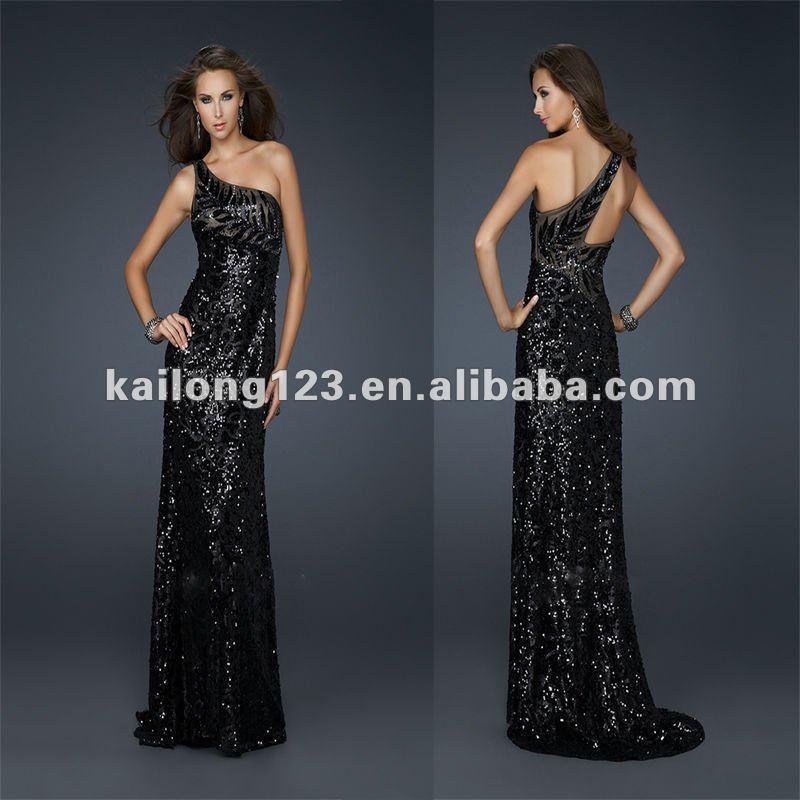 Black prom dress sequin