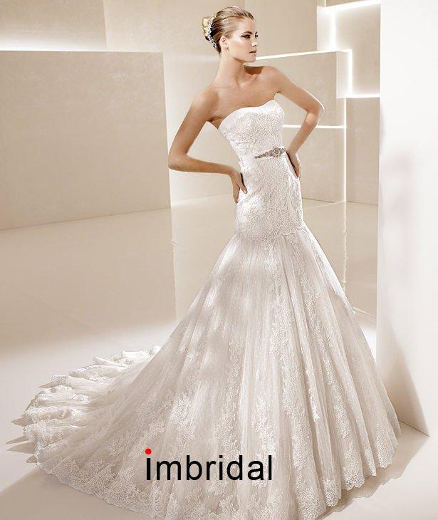 2012 New white ivory lace wedding dress custom size