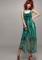 Женское платье Women's Long Strap Maxi Dresses Flock Material, Slim Dress Solid Designed, Drop Shipping 1Pcs/Lot Hot Sell
