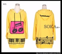 Женские толстовки и Кофты New Arrival Womens Long Sleeve Hoody Dress /ladies' hoodie-SK372
