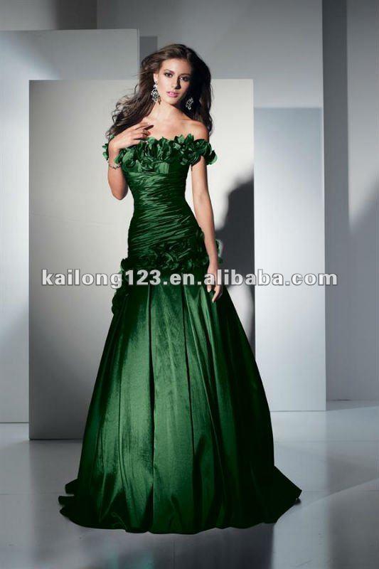 Dark Green Long Dress Photo Album - Reikian