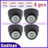 4pcs , CMOS 700TVL (420TVL) Hot Selling,Surveillance 24IR night vision Color IR Indoor Security Dome CCTV Camera