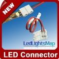 DHL EMS Free Shipping Led Strip Connector For 8mm SMD 3528 Led strip connector with Wire,No Need Soldering [ LedLightsMap ]