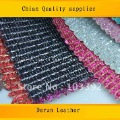 Hot selling glitter mesh leather for wallet