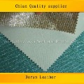 Made in China,Hot selling DERUN pu glitter mesh leather for wallet and shoes,