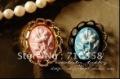 2012 promotion~!Free Shipping 13*18mm resin flower pendant,resin cameo flower,resin cabochon pendant,necklace resin flower,100pc