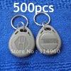Free Shipping RFID Proximity ID Token Tag Key Ring 125Khz RFID cards Grey 500pcs/lot