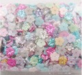 Wholesale 1000pcs/bag mix colors ABS pearl flowers,DIY hair ornament accessories,card making & scrapbooking,DIY crafts,handcraft