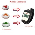 Watch paging system,Room calling system,Wireless call system 15pcs of table bell and 1 pcs of wrist watch reciever