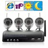Surveillance IP Camera Kits with 2.4GHz Wireless Receiver and 4 IR Camera