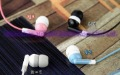 Wholesale 50pc/lot In-ear earphones headphones headsets for Mp3 MP4 MP5 PSP Color Pink/Black/White/Blue
