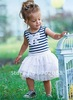Free shipping Hot sale baby Stripe dress Ball Gown girl dress