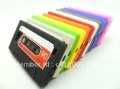 400pcs/lot Hottest Wholesale Tape Silicone audio cassette case for iphone 4G 4S