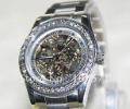Free Shipping 2012 High Quality Fashional Women's Star-like All Diamonds Hollow Mechanical Watch