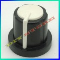 "wholesale 100pcs/lot Brand New black with white 17mm high 6mm 15/64"" Shaft Diameter encoder Knobs+free shipping-10000410"