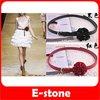 D19+Free Shipping 5pcs/lot Hot Fashion Women Korean Slender Satin Flower Buckle Style Belt Waistband 3 Color