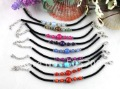 18PCS Mixed Colour Beaded Velvet Childrens bracelets #21590
