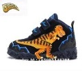 Dinosoles dinosaur's dragon boy's 3D recreational genuine leather shoes with light 0179