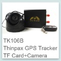 Vehicle/Car GSM/GPRS/GPS Tracker with Camera + Remote Control Fleet Tracking System Car Alarm Device THINPAX TK106B