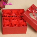 Free Shipping 9pcs/box Rose Soap, Craft Soap, Wedding gift, Valentine's Day gift wholesale