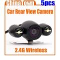 2.4G Wireless GPS Night Vision Car Rear View Backup Camera 2 LED NTSC Express 5pcs/lot