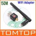 802.11 n/g/b Mini 150M USB Wireless WiFi Network Card LAN Adapter with Antenna 10pcs/lot, Free Shipping+Drop Shipping