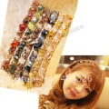 20pcs/lotColor Crystal Barrette Hair Clip Hair Accessory Alloy Jewelry Colorful Free Shipping 4945