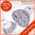 Hotsale Free Shipping [Sharing Lighting] 2pcs/lot Dimmable/Non-Dimmable 3W Gu10 Led Latern,Energy Saving 3w Led Lamp Cup