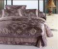 120422 free shipping Luxurious silk 4pcs bedding set