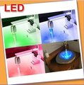 Free shipping 10pcs/lot NEW Temperature Sensor 3 Color RGB Glow Shower LED Light Water Faucet Tap