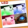 Free shipping 10pcs/lot NEW Temperature Sensor 3 Color RGB Glow Shower LED Light Water Faucet Tap