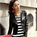 Women's Leather Coat Leather Clothing Female Short Design Slim PU Clothing Outerwear Leather Jacket