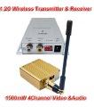 1500mW 4Channel 1.2G Wireless AV/Audio Camera Transmitter & Receiver