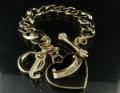 Charm Bracelet Cute Jewelry Gold Logo Black Heart Pendants Free Shipping High Quality Gift Box#J3