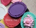 Newest 44*54mm Flatback Resin setting, Fashion Mixed color Resin cameo/cabohcon for DIY Jewelry!100pcs a lot!Free ship!
