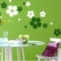 Free shipping:1 SET=23pcs Flowers/3D wall sticker beauty/wall decals/ removable vinyl wall decoration stickers/Wholesale