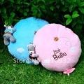 J2 Cute little bubu teddy bear plush round pillow & cushion, soft and funny, 1pc