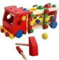 lovely gift children toys wooden toys educational Knock the ball screw car baby toys