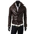 2012 New Slim Sexy Top Designed Mens Pu Leather Jacket Coat Colour:Black,Brown size M L XL XXL
