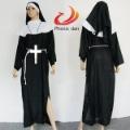 Sexy Nun Religious Sister Robe Womens Fancy Dress Catholic Halloween Costume