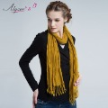 FASHON-2013 autumn women's scarf solid color long tassel pleated all-match thermal scarf FREE SHIPPING