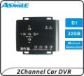 2ch car dvr recorder cctv mini dvr with auto motion detection