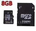 8GB High Capacity Speed Flash Micro SD TF MicroSD Memory Card 8 GB + SD Adapter