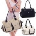 Hot Latest High Quality Women Canvas Handbag Fashion Shoulder Bag 3 colors LB501