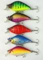 30pcs/lot 5 color 6.5cm/8.4g Classic plastic SHAD fishing hard bait,Crank fishing lures,8# hooks,Free shipping by HK/Sin post