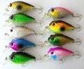 27pcs/lot 9 color 8cm/15g plastic CRANKBAIT fishing hard bait,Wobbler Crank fishing lures,Free shipping by HK/Sin Post