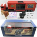 Circus animal transport vehicle alloy car model car toy animal model