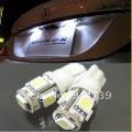 Free shipping 30pcs/lot 194 168 w5w led Car light T10 5 SMD 5050 LED White 12V Wedge Bulb car interior Lamp
